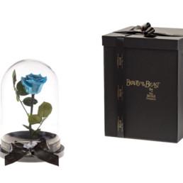 Beauty And The Beast Με Γαλάζιο Τριαντάφυλλο και φωτάκια LED