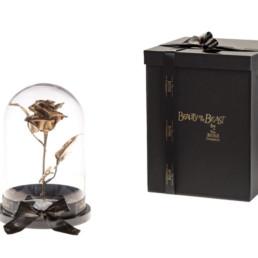 Beauty And The Beast Με Χρυσό Τριαντάφυλλο και φωτάκια LED
