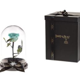 Beauty And The Beast Με Tiffany Blue Τριαντάφυλλο και φωτάκια LED