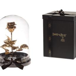 Beauty And The Beast XL Με Χρυσό Τριαντάφυλλο και φωτάκια LED