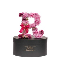 R Letter Box With Artificial Roses (That Last Forever) With Led Lights Swarovski Crystals Also Can Be With Blue Roses