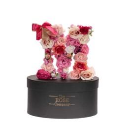 S Letter Box Με Τεχνητά Τριαντάφυλλα (Διαρκούν Για Πάντα) Με Led Φωτάκια & Swarovski Crystals