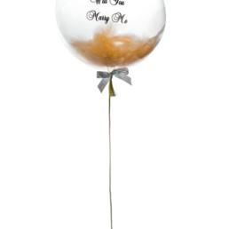 Μπαλόν με μήνυμα «Will You Marry Me» Signature