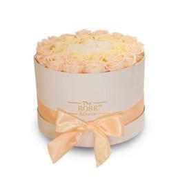 Forever Roses Σε Κουτί Large Με σαμπανιζέ τριαντάφυλλα σε λευκό κουτί δώρου