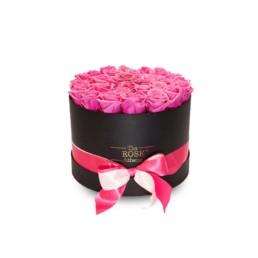 Forever Large - Μαύρο Κουτί Με Φούξια Τριαντάφυλλα