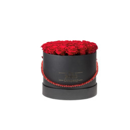 Forever Roses Large With Red Roses In White «Jewellery» Gift Box