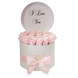 Forever Roses Σε κουτί medium με μήνυμα «I Love You»