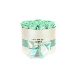 Forever Roses Medium Με Tiffany Blue Τριαντάφυλλα Σε Λευκό Κουτί Δώρου