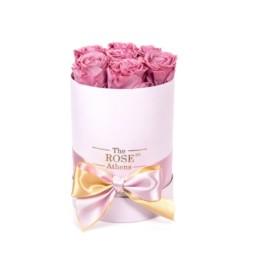 Forever Roses Small Με Ροζ Τριαντάφυλλα Σε Ροζ Κουτί Δώρου