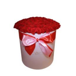 Φρέσκα Τριαντάφυλλα Σε Κουτί Jumbo με κόκκινα τριαντάφυλλα