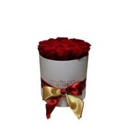 Φρέσκα Τριαντάφυλλα Σε Λευκό Κουτί Δώρου - Midi Flower Box