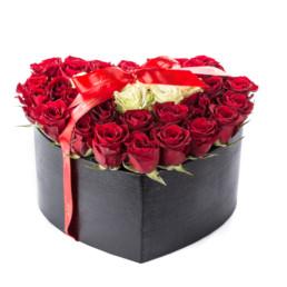 Φρέσκα Τριαντάφυλλα LARGE σε κουτί καρδιά