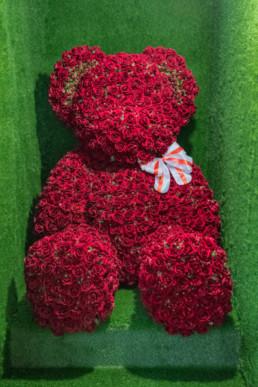 Γίγας Ροζ Αρκουδάκι180cm Με 3000 Τριαντάφυλλα