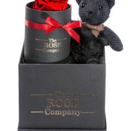 Κουτί Δώρου Hamper Black Fur Teddy Mini Red Forever Rose