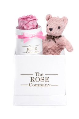 Hamper Box - Forever Rose & Fur Teddy