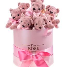Κουτί Δώρου Midi Με Αρκουδάκια «Pink Bear Box»