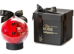 «Mr & Mrs» Christmas Bauble Σε Κόκκινο