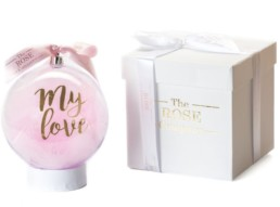 «My Love» Christmas Bauble Σε Ροζ