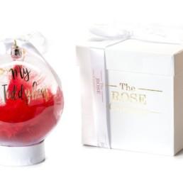 «My Teddybear» Christmas Bauble Σε Κόκκινο