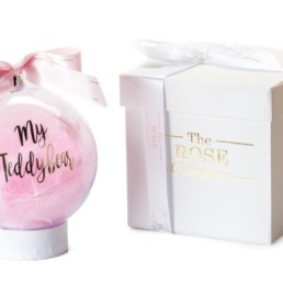 «My Teddybear» Christmas Bauble Σε Ροζ