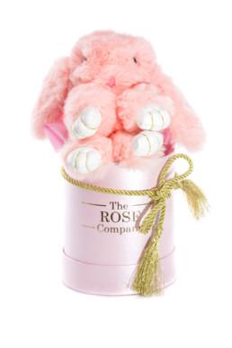 Ροζ Κουτί Hamper Με Ροζ Αρκουδάκι