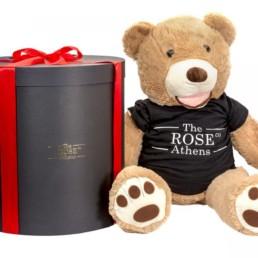 Αρκούδος Με Μαύρο T-Shirt Σε Συσκευασία Δώρου 1m