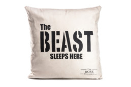 "Pillow Case ""The Beast Sleeps Here"""