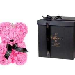Toyflower Crown Από Φούξια Τριαντάφυλλα. Πακέτο Πολυτελείας