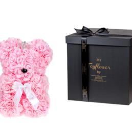 Toyflower Crown Από Ρόζ Τριαντάφυλλα. Πακέτο Πολυτελείας
