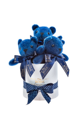 Baby Κουτί Δώρου Σε Λευκό Με Μπλε Αρκουδάκια «Bear Box»