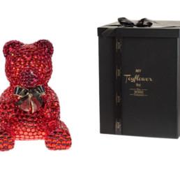 Crystal Bear Κόκκινο Με Φιογκάκι 40εκ