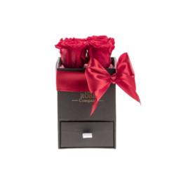 Φρέσκα Τριαντάφυλλα Baby Box Με Κόκκινα Τριαντάφυλλα Σε Μαύρο Κουτί