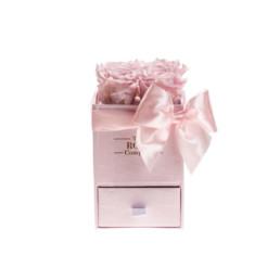 Φρέσκα Τριαντάφυλλα Baby Box Με Ροζ Τριαντάφυλλα Σε Ροζ Κουτί