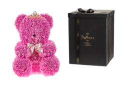 Toyflower 50εκ απο ροζ τριαντάφυλλα με κορόνα