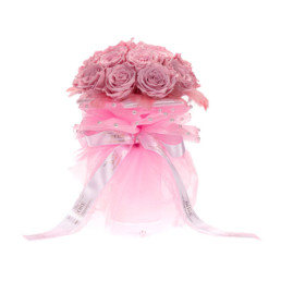 Forever Roses Bridal Bouquet Σε Ροζ (Διαθέσιμο Σε 20 Χρώματα)