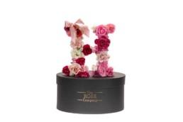 H Letter Box Με Τεχνητά Τριαντάφυλλα (Διαρκούν Για Πάντα) Με Led Φωτάκια & Swarovski Crystals