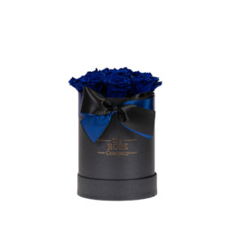 Forever Roses Small Flower Box Με Μπλε Ηλεκτρικ Τριαντάφυλλα Σε Μαύρο Κουτί
