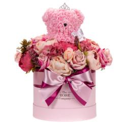 Forever Roses Medium Flower Box Με Τριαντάφυλλα & Toyflower