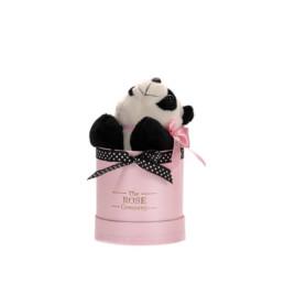 Κουτί Hamper Baby Box Με Panda Αρκουδάκι Σε Ροζ Κουτί