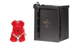 Toyflower Puppy With Red Roses, Jewellery & Crown, 48cm