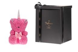 Toyflower Με Ροζ Τριαντάφυλλα, Μονόκερο Με Swarovski Crystals 55εκ