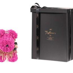 Toyflower Puppy Με Μπλε Τριαντάφυλλα, Κορόνα & Μπιζού. Μέγεθος: 40εκ