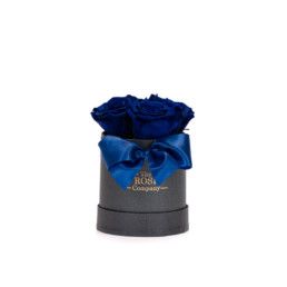 Forever Roses Baby Flower Box Με Μπλε Ηλεκτρικ Τριαντάφυλλα Σε Μαύρο Κουτί