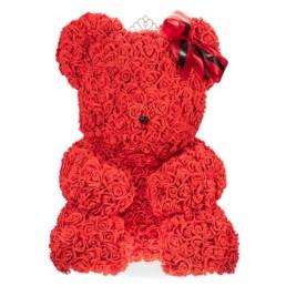 Toyflower XXL Γίγας με κόκκινα τριαντάφυλλα και κορόνα