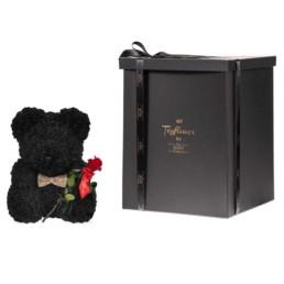 Forever Roses Toyflower 40cm Μαύρο Με Forever Roses Περιλαμβάνει Και Το Κουτί
