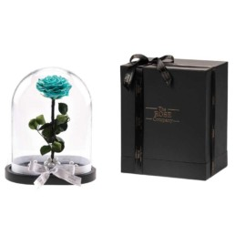 Beauty & The Beast XXL Tiffany Blue Rose Box Included