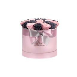 Forever Roses Medium Ροζ Κουτί Με Γκρί & Ροζ Τριαντάφυλλα