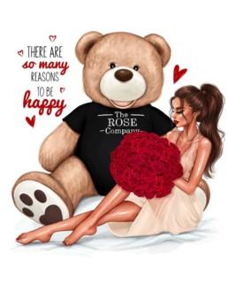 Κάρτα Σημειώσεις Με Beauty & The Beast Rose