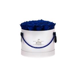 Forever Roses Medium Jewellery Λευκό Κουτί Royal Blue Τριαντάφυλλα