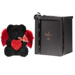 Toyflower 50cm Μαύρο Με Κόκκινα Heart & Wings Περιλαμβάνει Και Το Κουτί